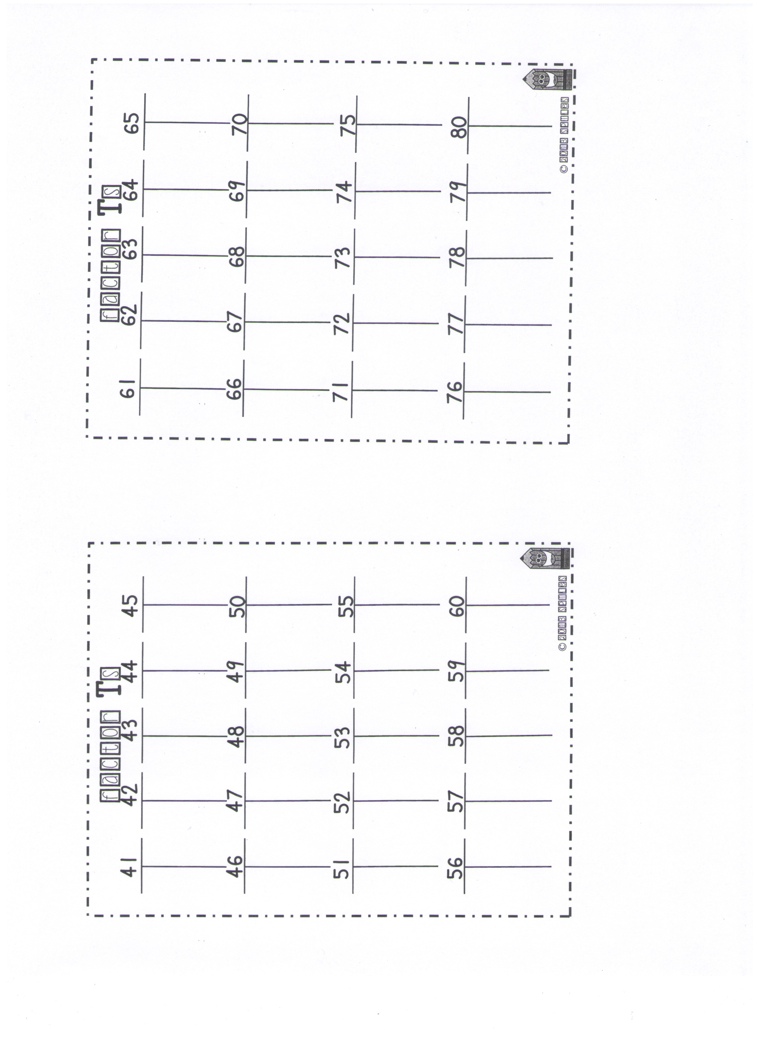 MrChos 6th Grade – Divisibility Worksheets 6th Grade